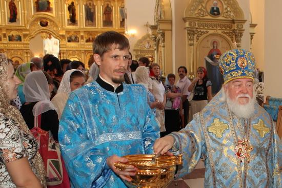 Освящение Казанского храма.