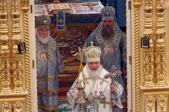 Литургия в Казанском храме.