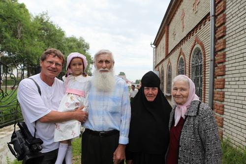 Николай со своей женой и внучкой. Инокуиня Иоанна. Нафанаил