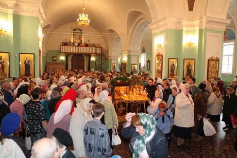 Восемьдесят девятый Симбирский крестный ход с чудотворным образом Казанской Жадовской Божией Матери прибыл в Симбирск.