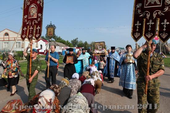 Крестный ход с чудотворным образом Казанская Жадовская Богородица в Чердаклах