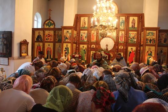 В селе Мулловка Крестный ход из Жадовского монастыря с чудотворным образом