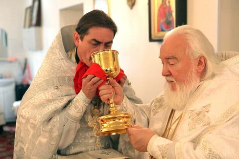 Архиепископ Прокл. Отец Сергий Ефремов.
