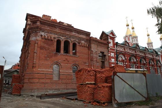 В Германовском соборе продолжается строительство колокольни