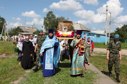 Cолнечная Кивать встретила Образ Казанской Жадовской Божией Матери